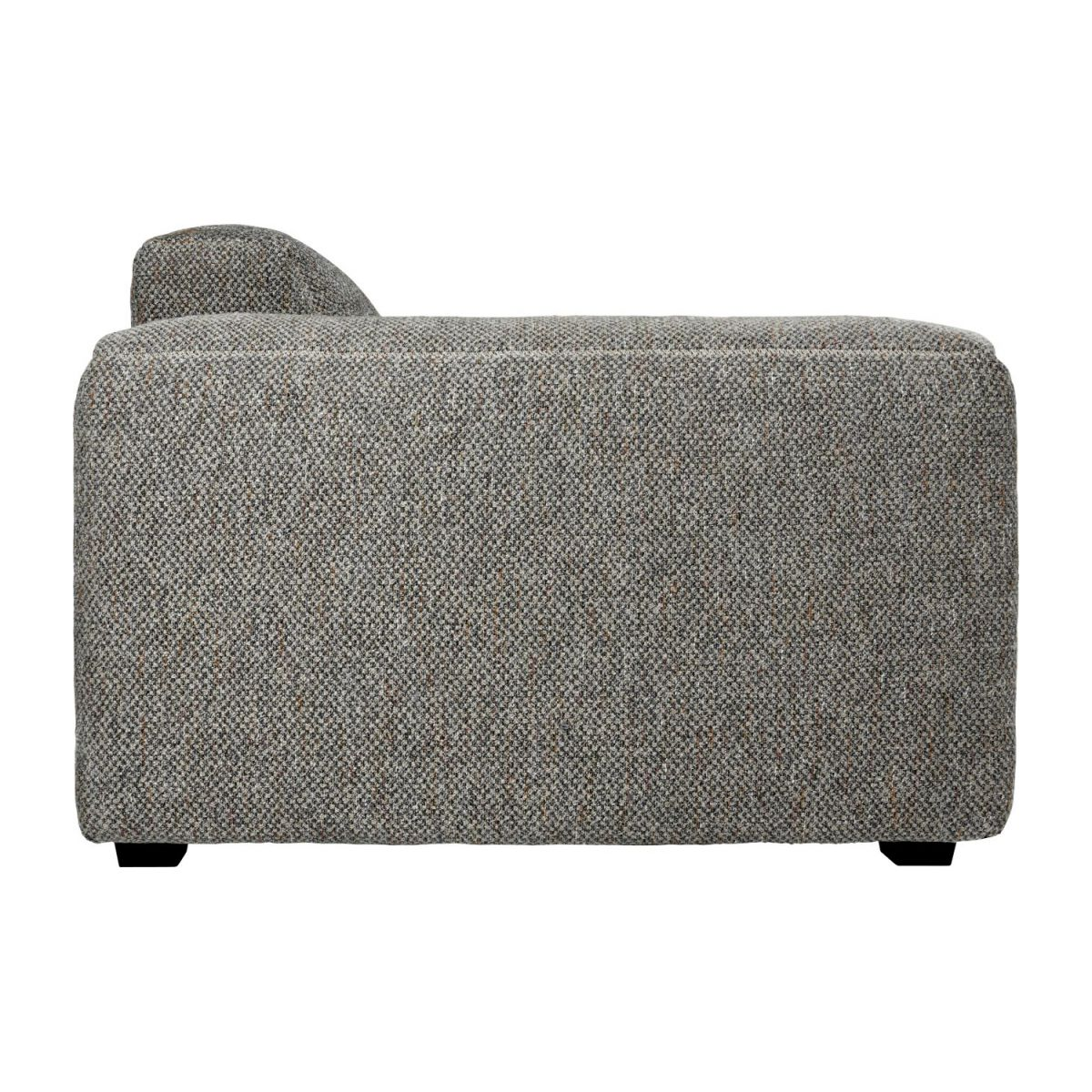2 seater sofa in Bellagio fabric, night black n°5