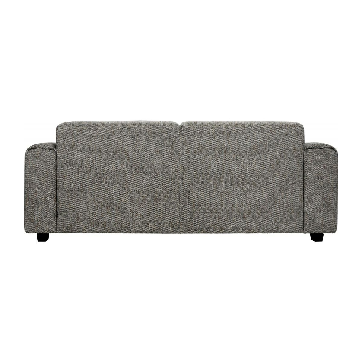 2 seater sofa in Bellagio fabric, night black n°4