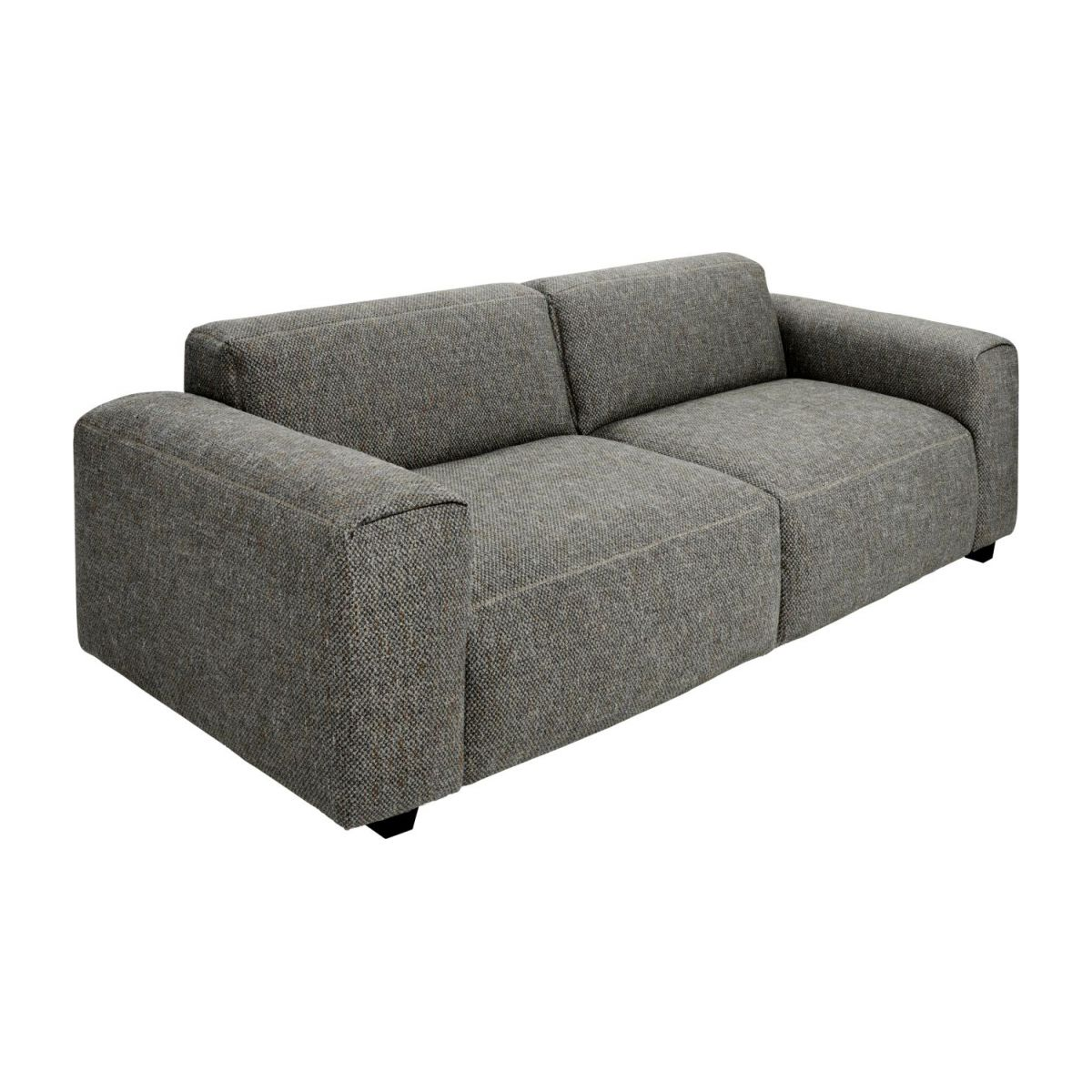2 seater sofa in Bellagio fabric, night black n°1