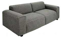 2 seater sofa in Bellagio fabric, night black