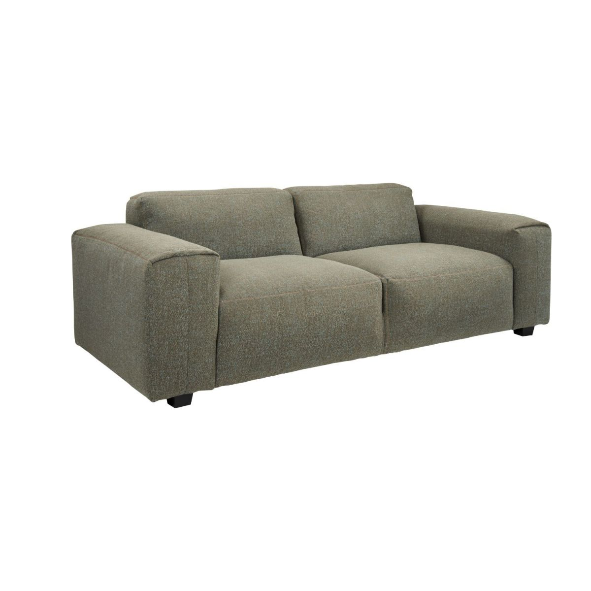 2 seater sofa in Lecce fabric, slade grey n°1