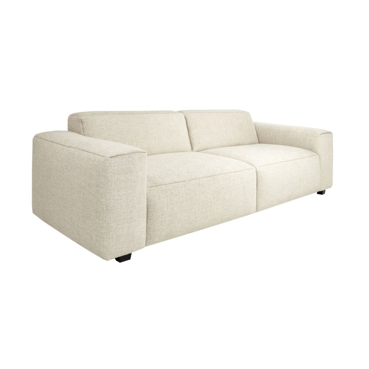 2 seater sofa in Lecce fabric, nature n°1