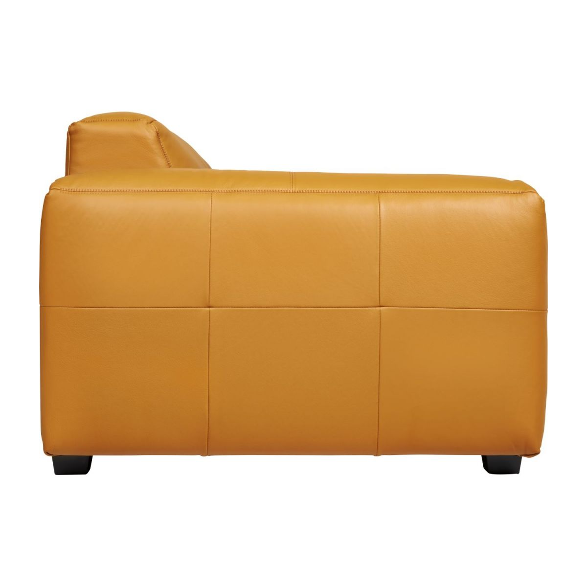 2 seater sofa in Savoy semi-aniline leather, cognac n°6