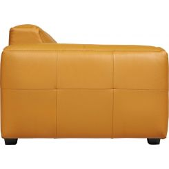 2 seater sofa in Savoy semi-aniline leather, cognac