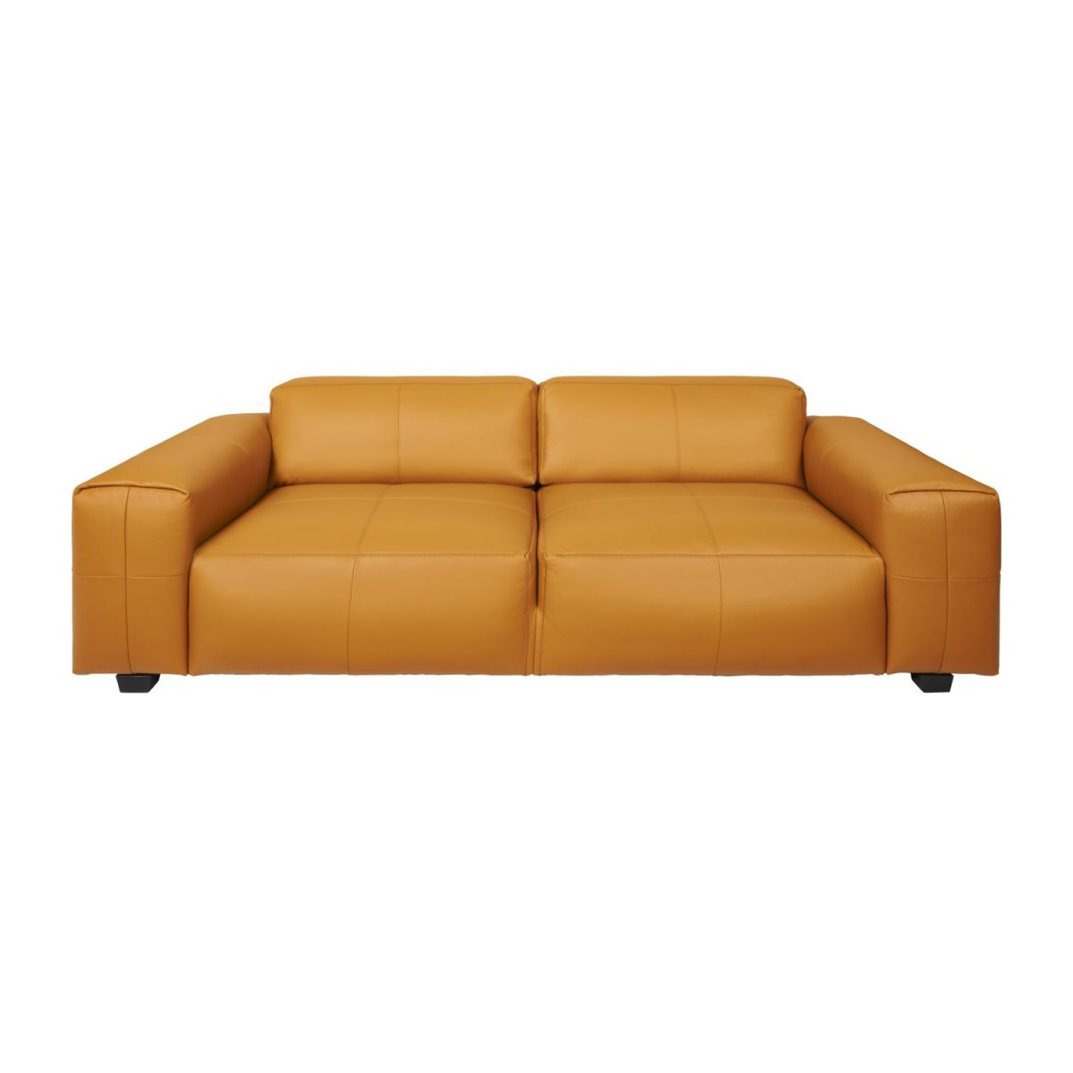 2 seater sofa in Savoy semi-aniline leather, cognac n°2