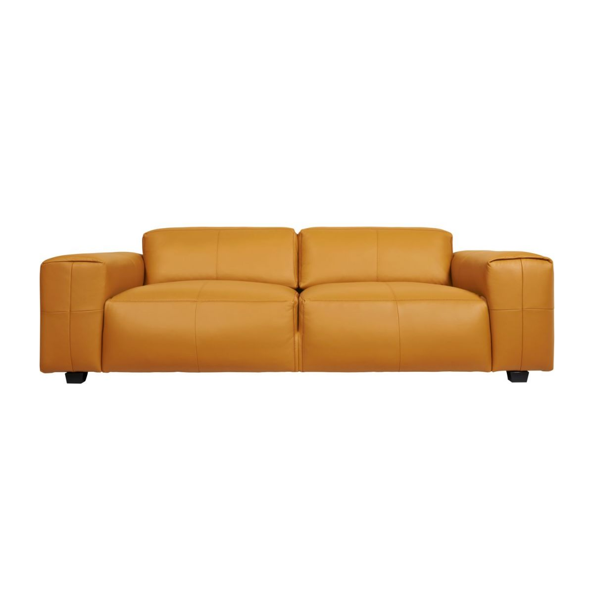 2 seater sofa in Savoy semi-aniline leather, cognac n°3