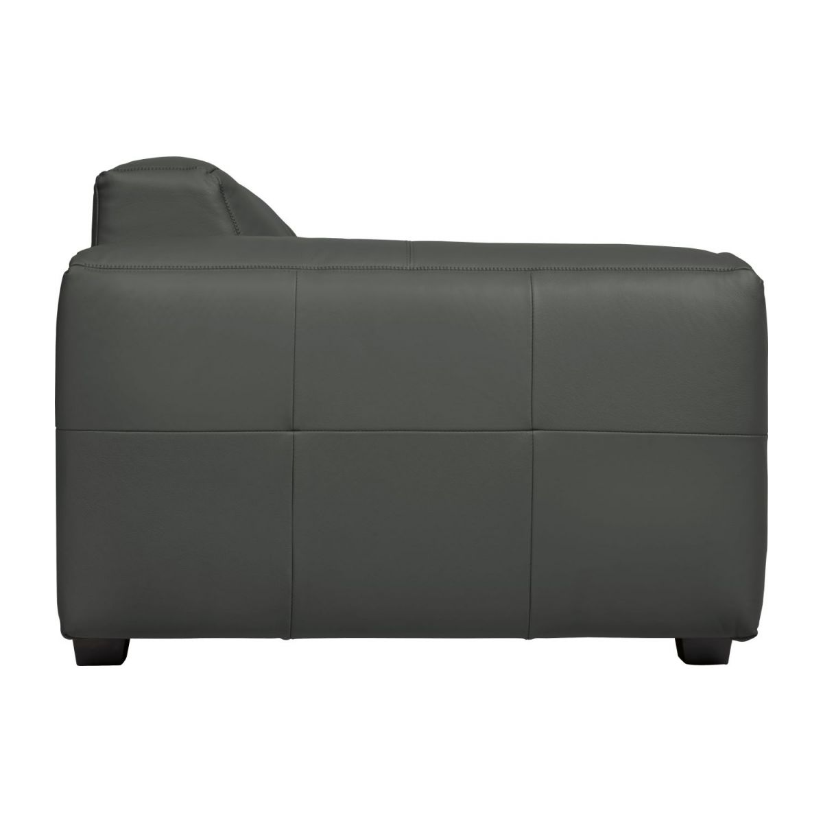 2 seater sofa in Savoy semi-aniline leather, grey n°6