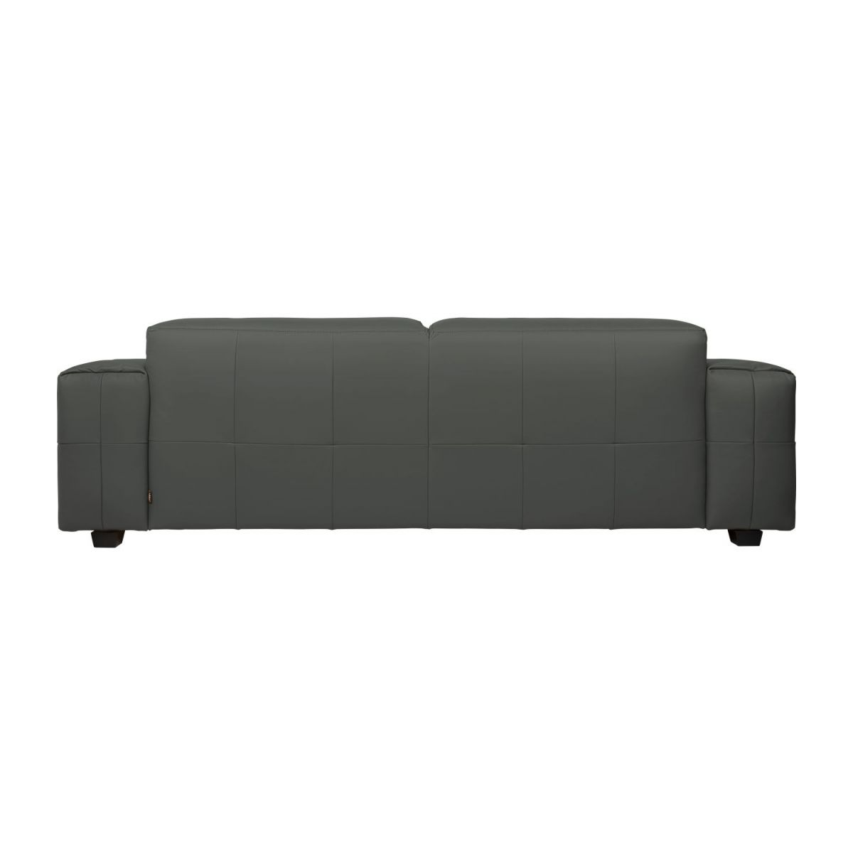 2 seater sofa in Savoy semi-aniline leather, grey n°5