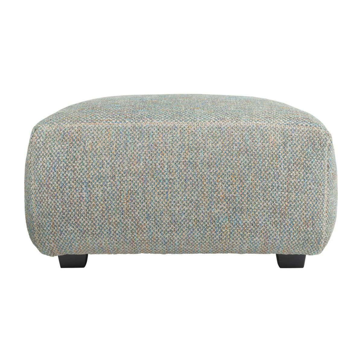 Footstool in Bellagio fabric, organic green n°4