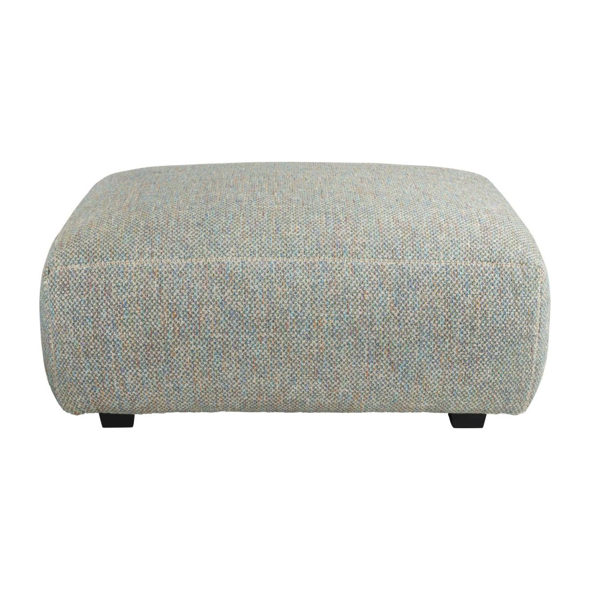 Footstool in Bellagio fabric, organic green n°2