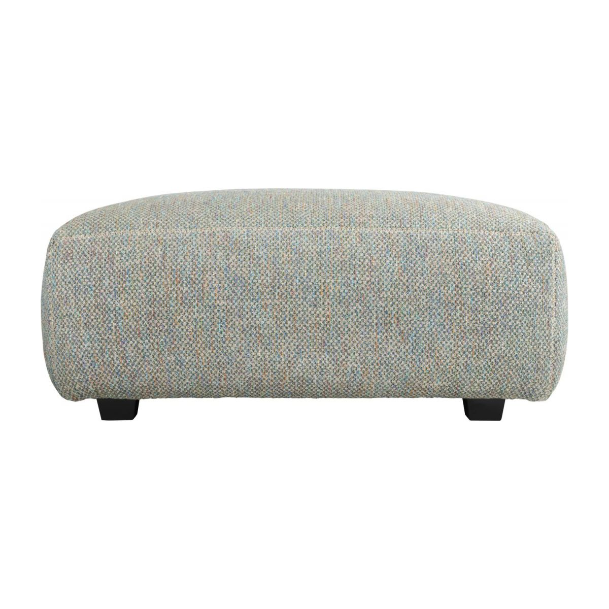 Footstool in Bellagio fabric, organic green n°3