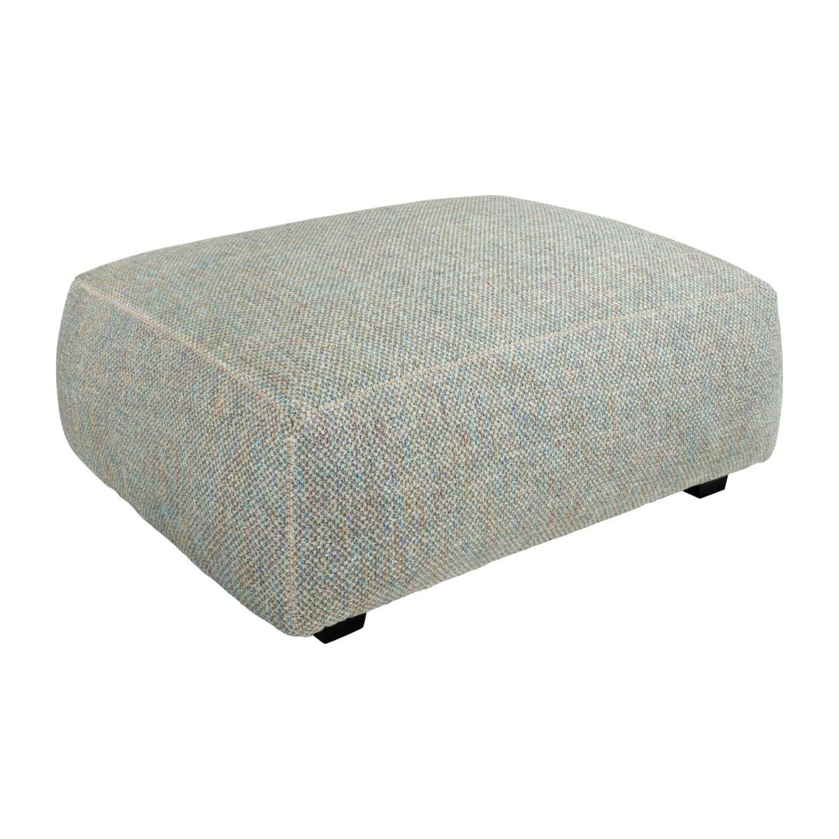 Footstool in Bellagio fabric, organic green n°1