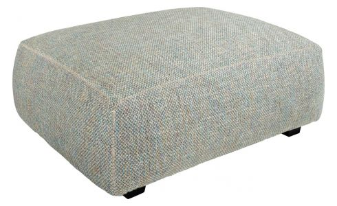 Footstool in Bellagio fabric, organic green
