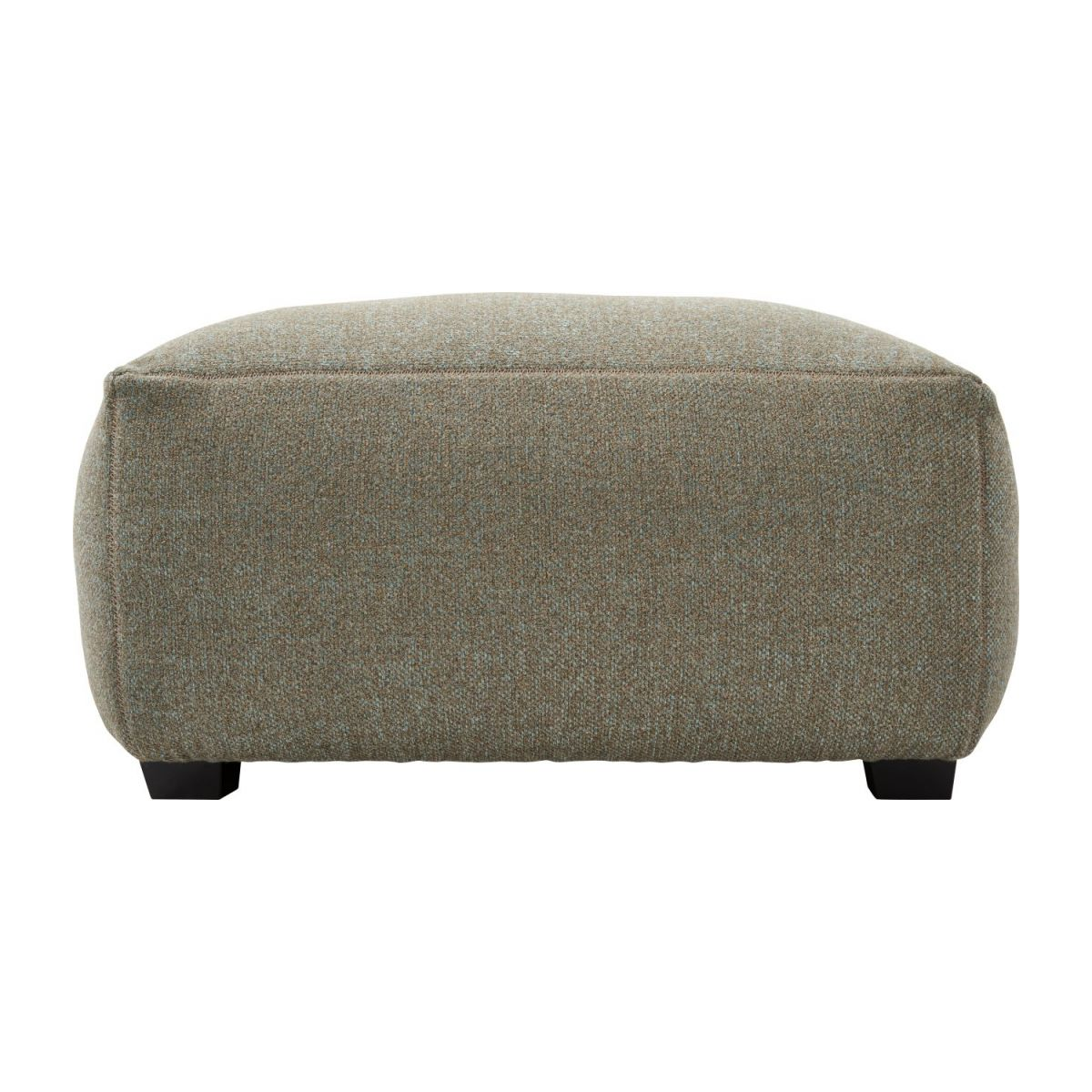Footstool in Lecce fabric, slade grey n°4