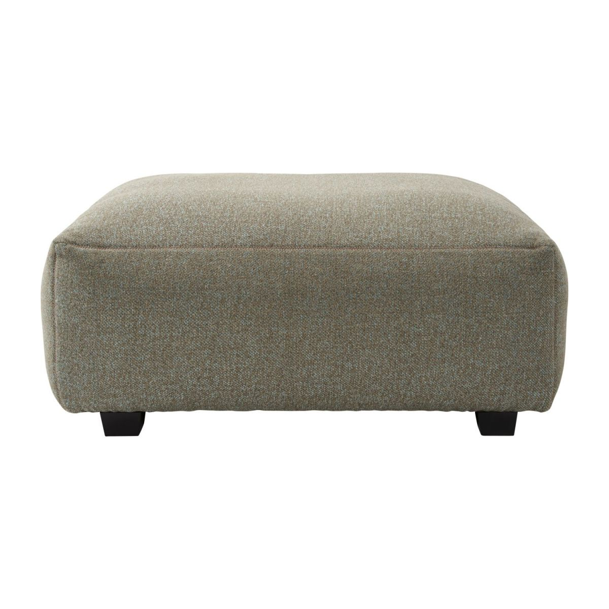 Footstool in Lecce fabric, slade grey n°2