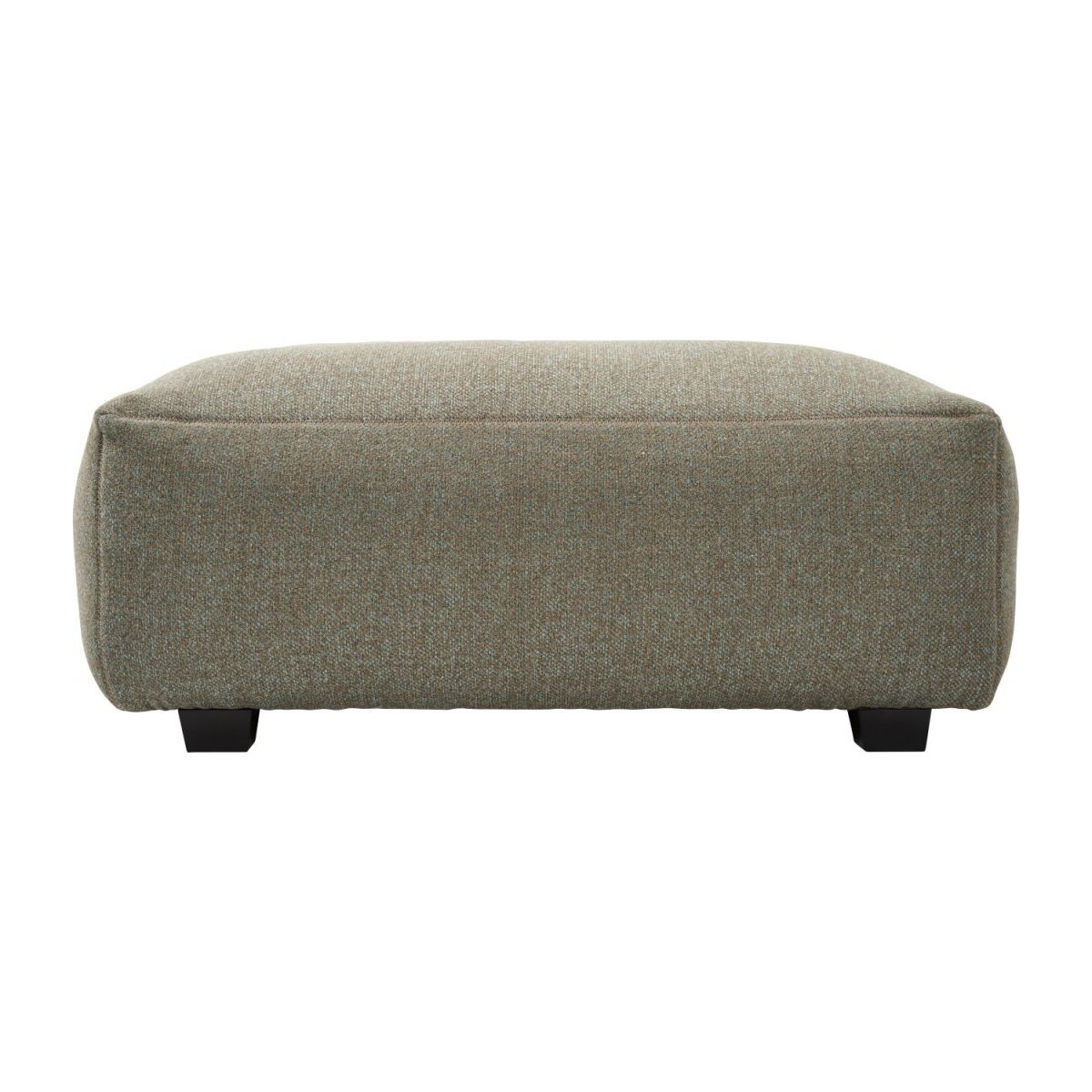 Footstool in Lecce fabric, slade grey n°3