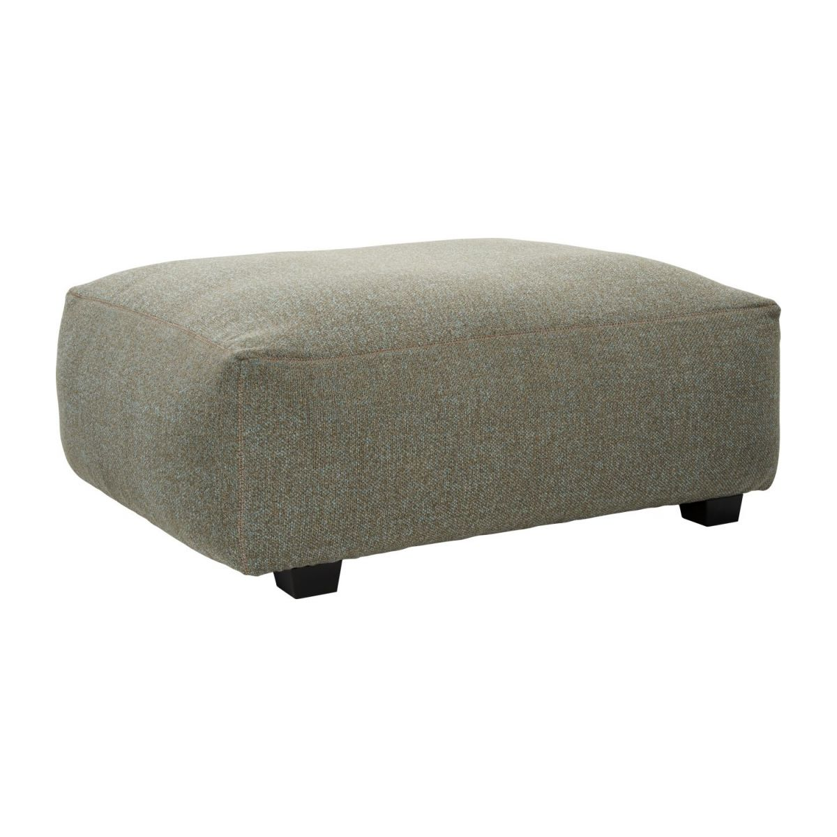 Footstool in Lecce fabric, slade grey n°1