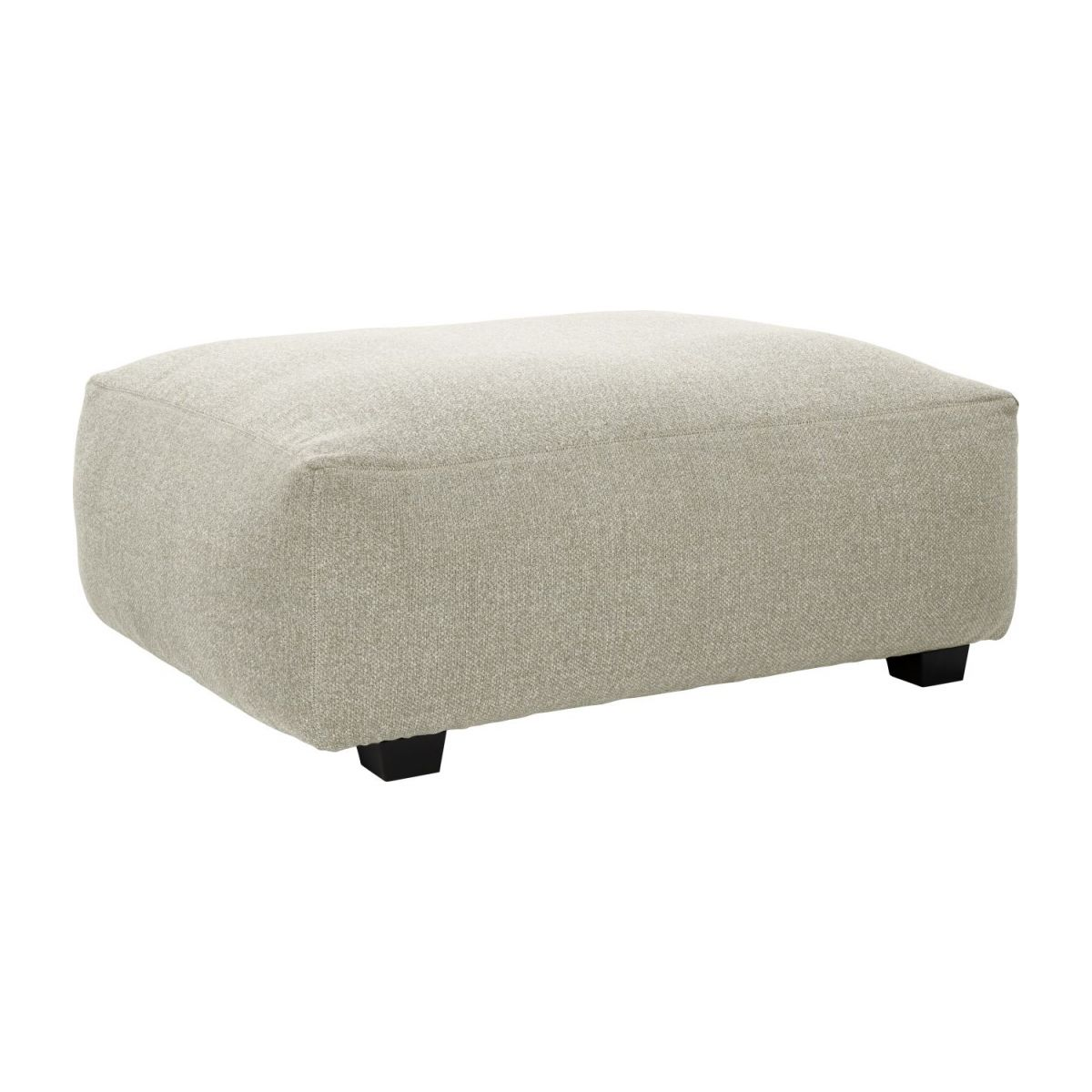 Footstool in Lecce fabric, nature n°1