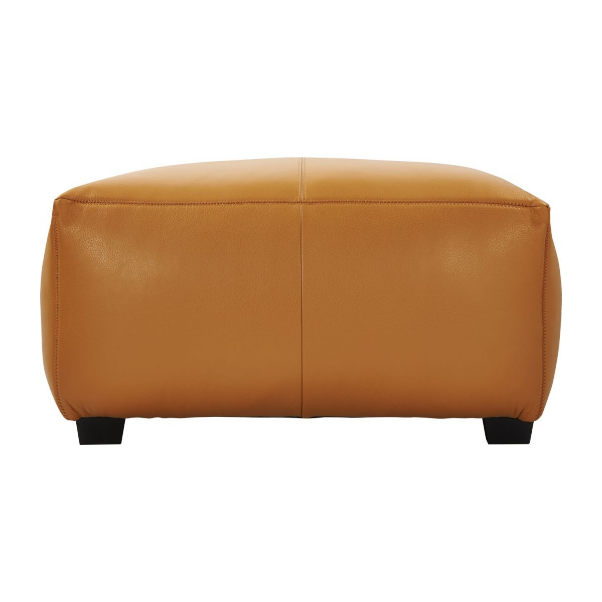 Footstool in Savoy semi-aniline leather, cognac n°5