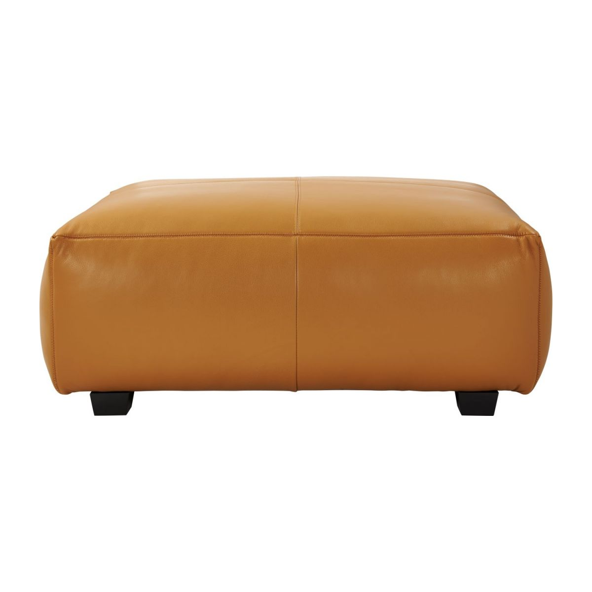 Footstool in Savoy semi-aniline leather, cognac n°3