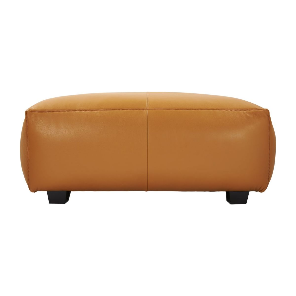 Footstool in Savoy semi-aniline leather, cognac n°4