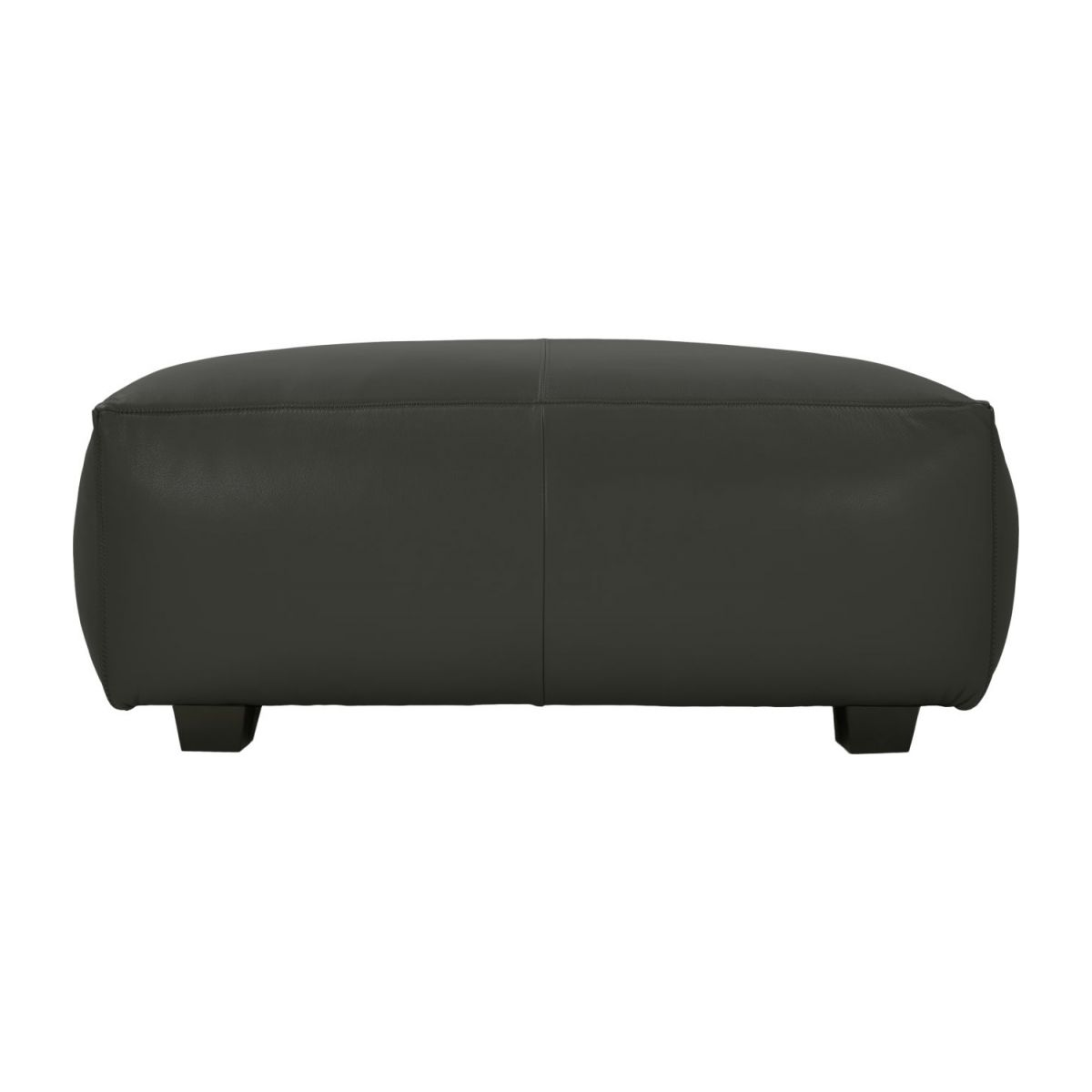 Footstool in Savoy semi-aniline leather, grey  n°2