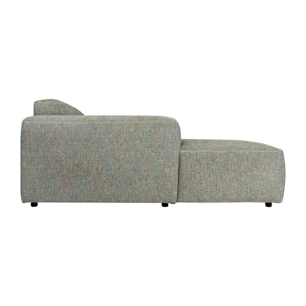 3-Sitzer Sofa mit Chaiselongue links aus Stoff Bellagio organic green n°6