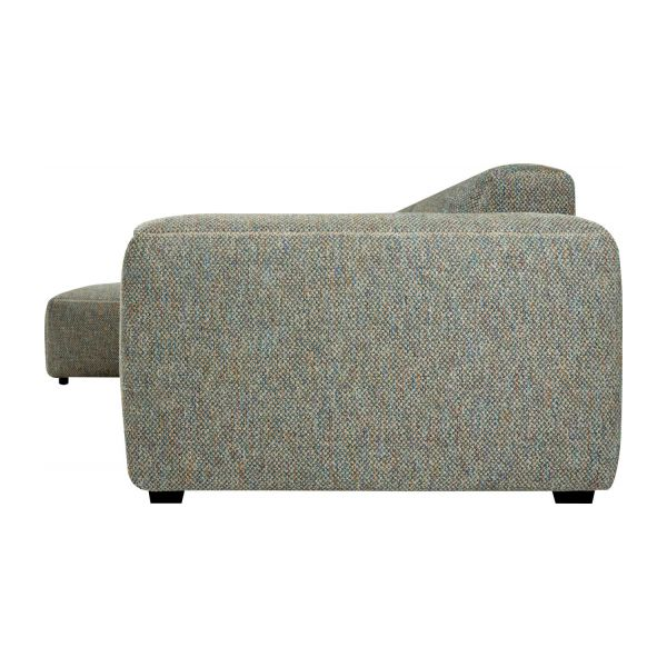 3-Sitzer Sofa mit Chaiselongue links aus Stoff Bellagio organic green n°4