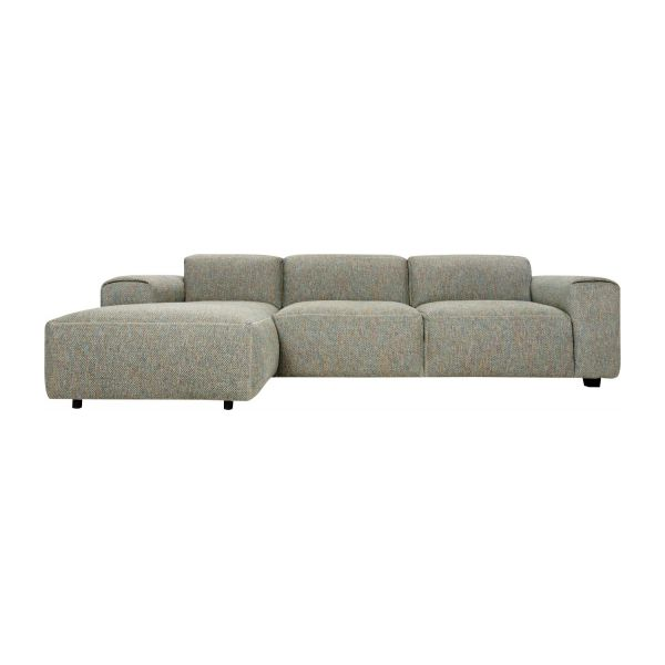 3-Sitzer Sofa mit Chaiselongue links aus Stoff Bellagio organic green n°2