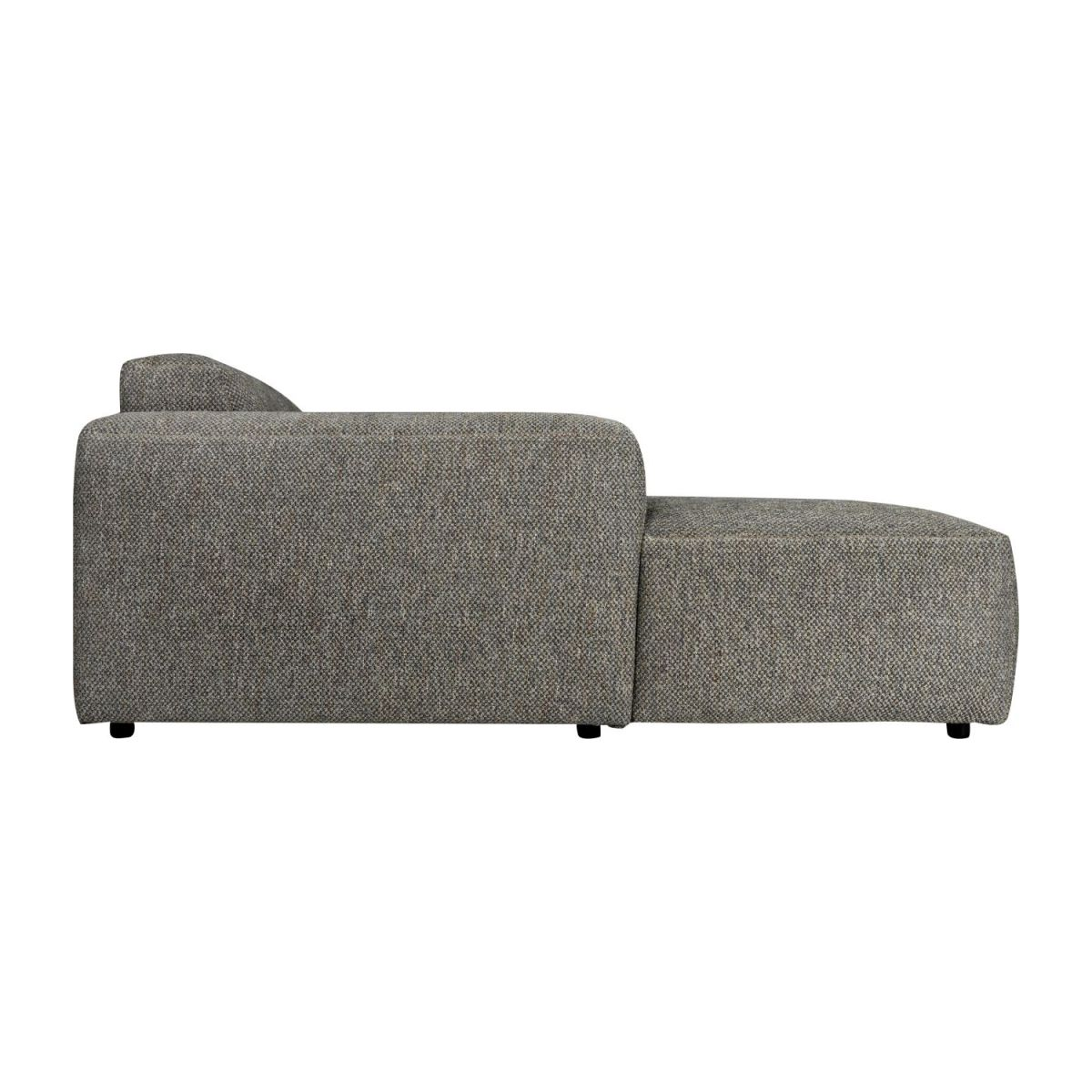 Sofá 3 plazas con chaiselongue izquierda de tela Bellagio night black n°6