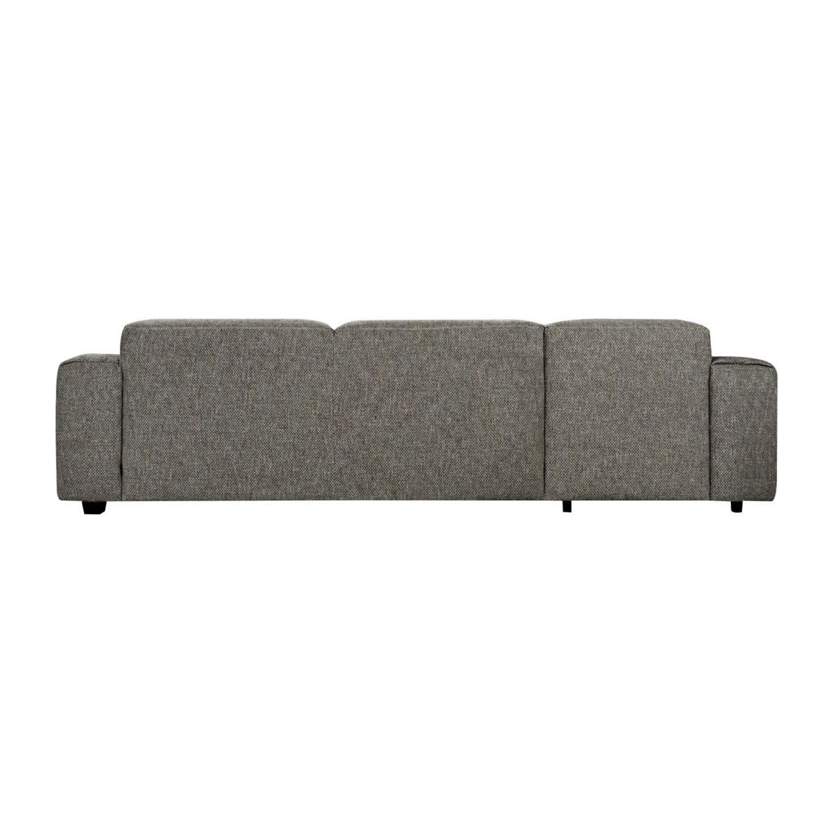 Sofá 3 plazas con chaiselongue izquierda de tela Bellagio night black n°5