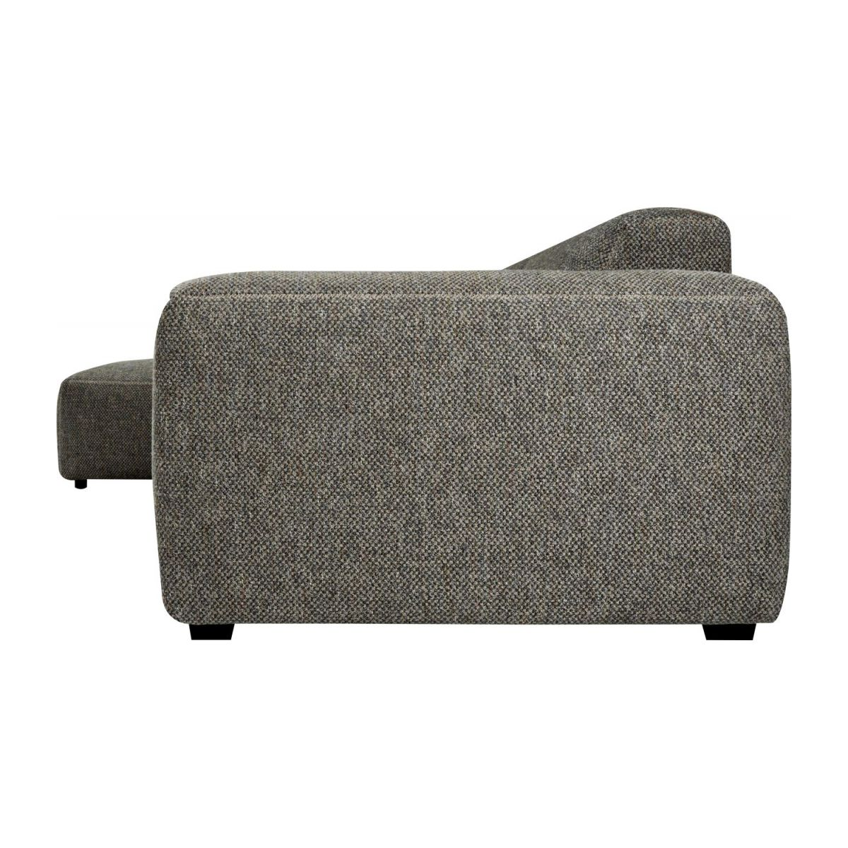 Sofá 3 plazas con chaiselongue izquierda de tela Bellagio night black n°4