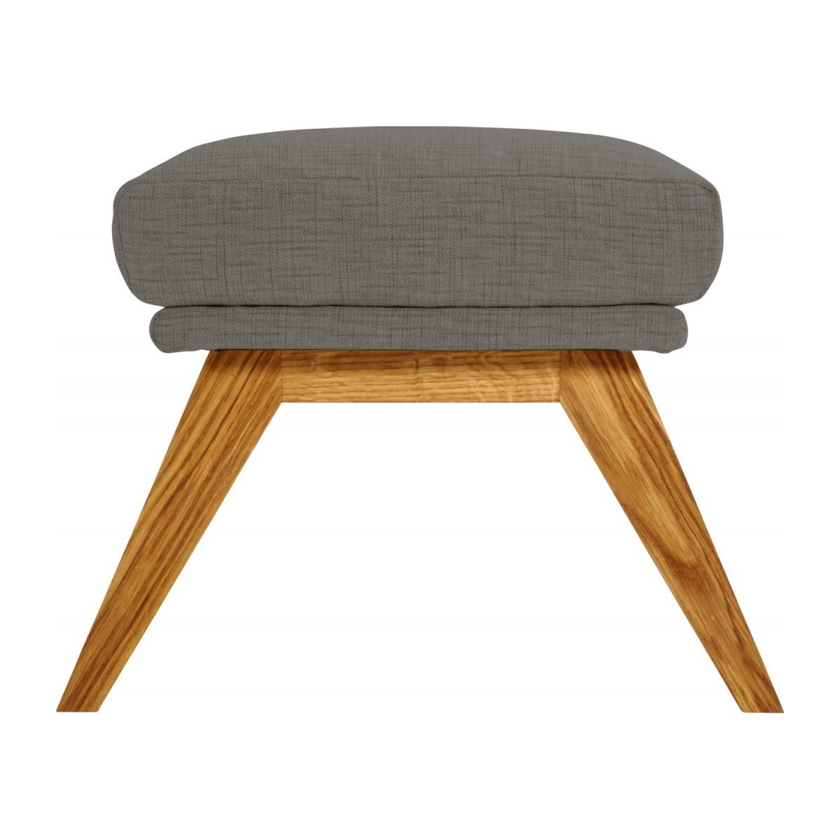 Footstool in Ancio fabric, river rock with oak legs n°4