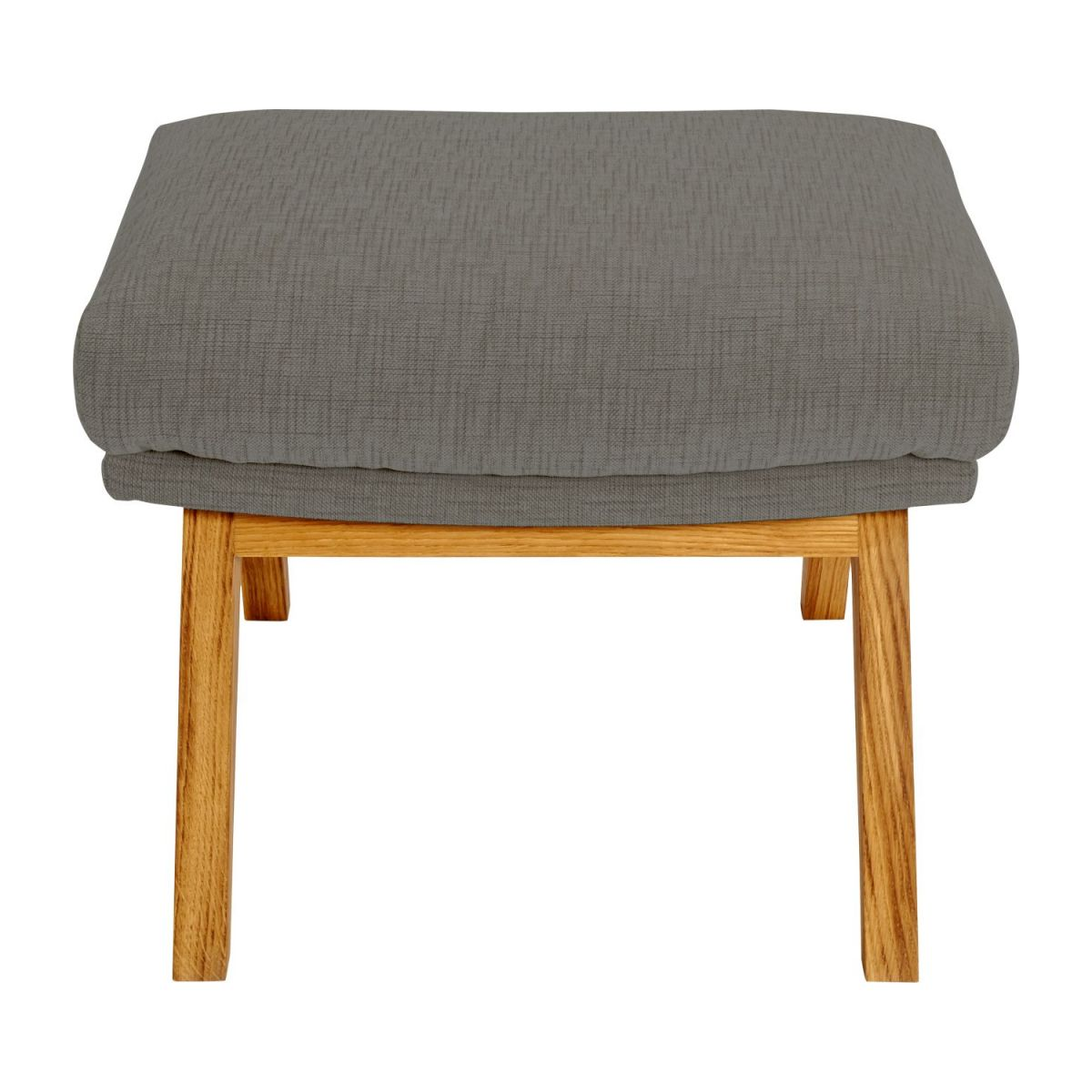 Footstool in Ancio fabric, river rock with oak legs n°2