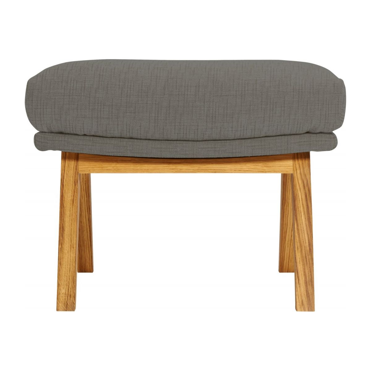 Footstool in Ancio fabric, river rock with oak legs n°3