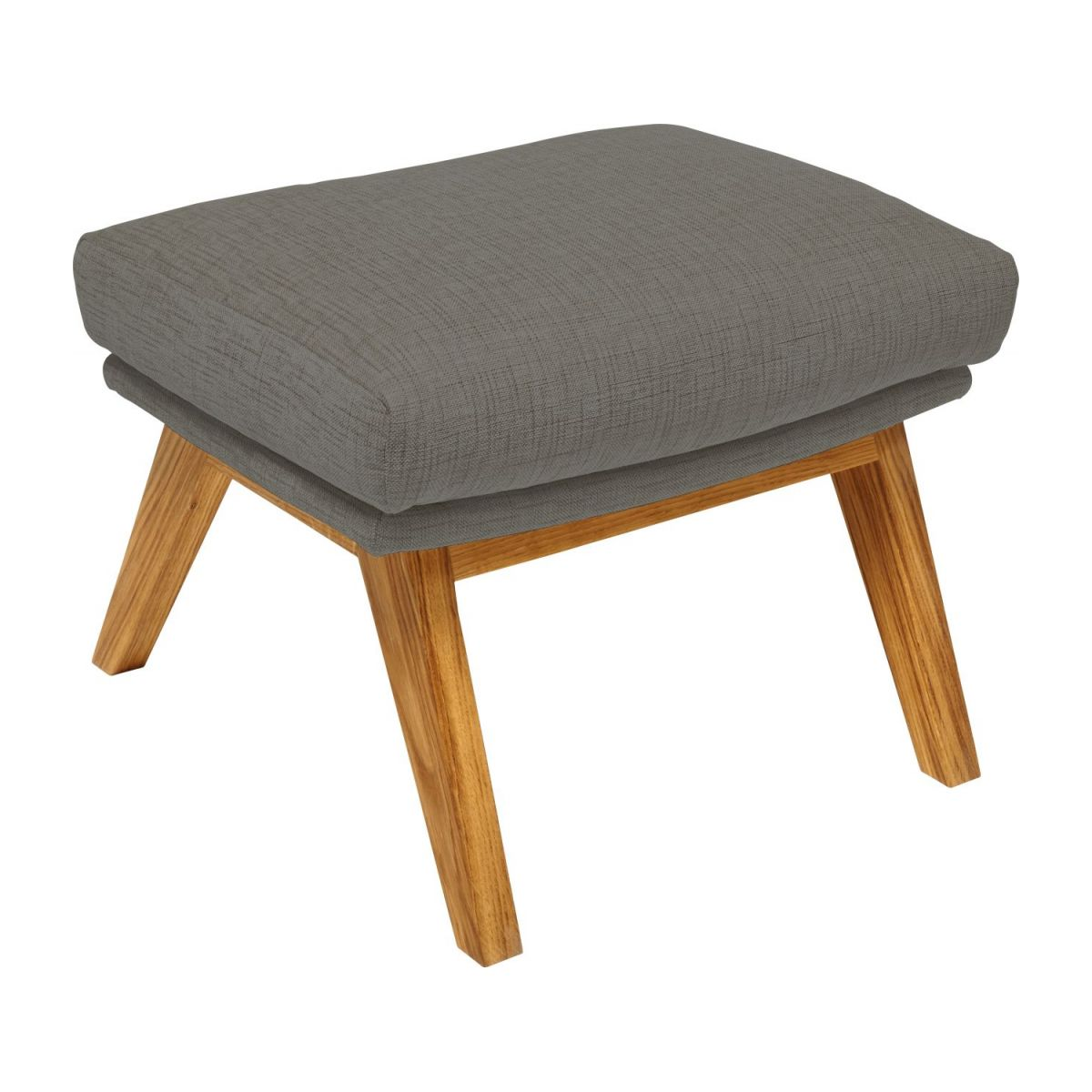 Footstool in Ancio fabric, river rock with oak legs n°1