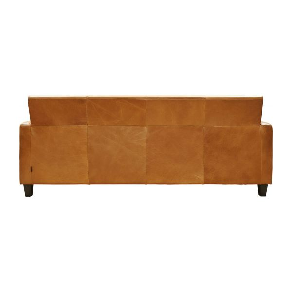 Chester canap 3 places en cuir marron habitat - Canape en cuir marron ...