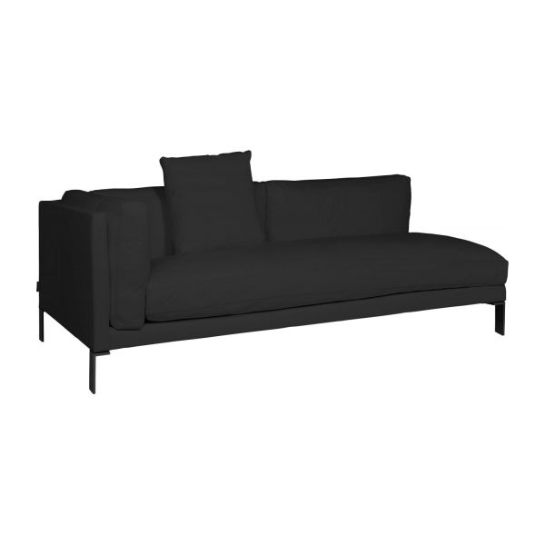 newman 3 sitzer sofa armlehne links aus leder schwarz. Black Bedroom Furniture Sets. Home Design Ideas