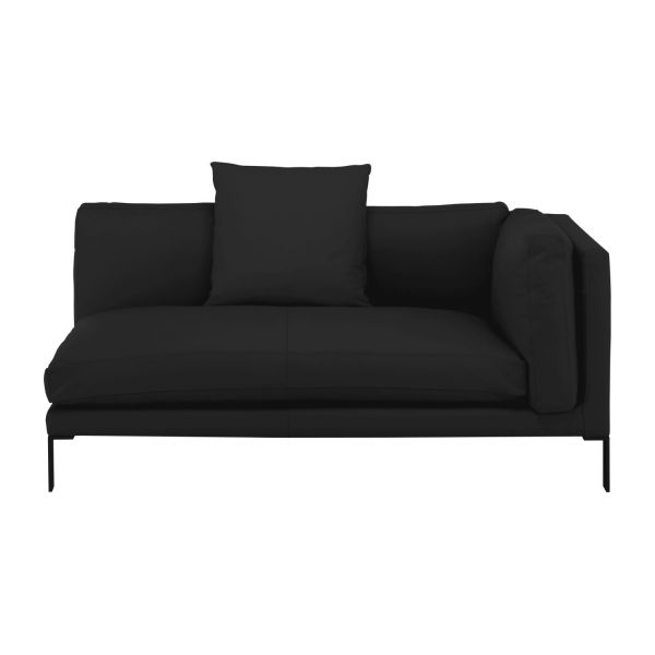 newman 2 sitzer sofa armlehne rechts aus leder schwarz habitat. Black Bedroom Furniture Sets. Home Design Ideas