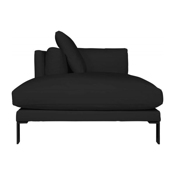 newman m ridienne gauche en cuir noire habitat. Black Bedroom Furniture Sets. Home Design Ideas