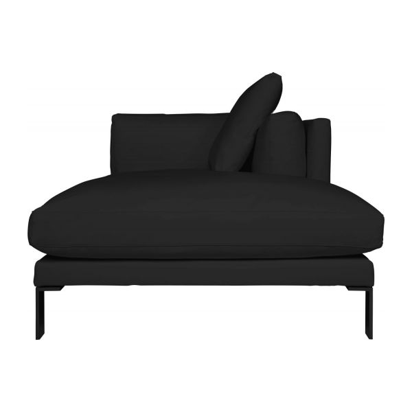 newman m ridienne droite en cuir noire habitat. Black Bedroom Furniture Sets. Home Design Ideas