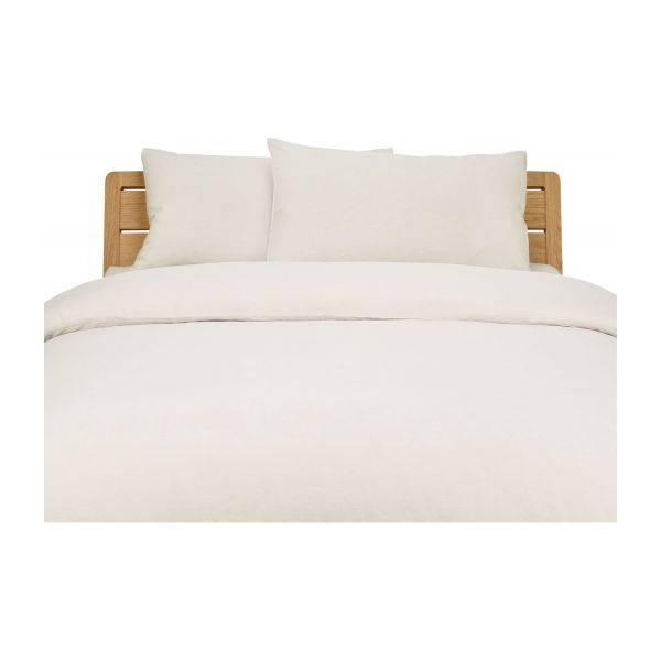 linen housse de couette 240x220 beige habitat. Black Bedroom Furniture Sets. Home Design Ideas