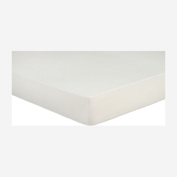 Fitted sheet 140x200 made in flax, beige