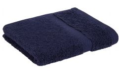Dark blue coton bath towel