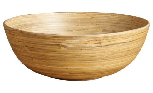 Grand bol 20 cm en bois naturel