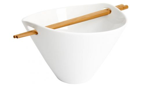 Bowl with chopsticks