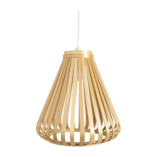 bamboo lampshade for ceiling light habitat. Black Bedroom Furniture Sets. Home Design Ideas