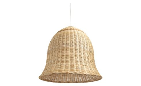 Large rattan ceiling light