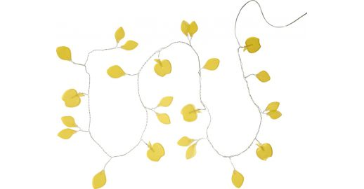 Apple 24 Light Fairy Lights Frosted Yellow Apples Habitat