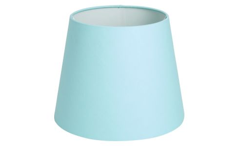 Small blue lampshade